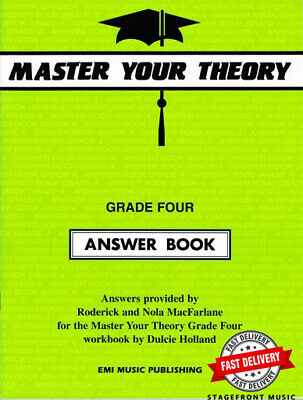 AU18 • Buy Master Your Theory Grade 4 / Four ANSWER BOOK (Revised Edition) *BRAND NEW*