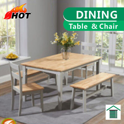AU299 • Buy Elegant Solid Wood Dining Table Set With Chair & Bench