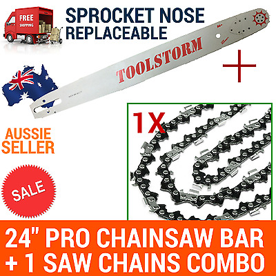AU99 • Buy 24/25  TOOLSTORM Pro Chainsaw Bar &1chain For Stihl 3/8 063 84DL 066 MS660 MS390