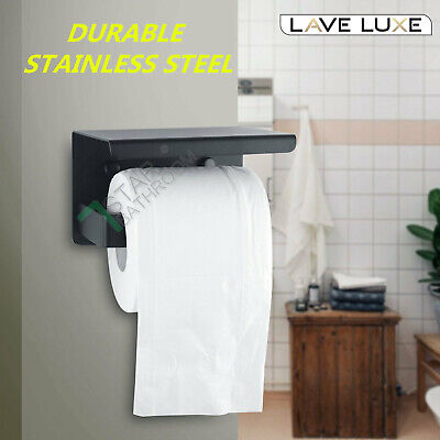 AU24 • Buy Wall Toilet Paper Holder Stainless Steel Steel Tissue Roll Dispenser Phone Shelf