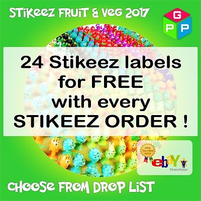 Lidl Stikeez Fruit & Vegetables 2017, Full Set, Collector Box Stikiz Veg  • 1.99£