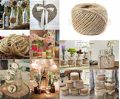 1m - 1000m Natural Brown Jute Thread Rustic Twin String Hemp Rope Cord Garden  • 3.99£