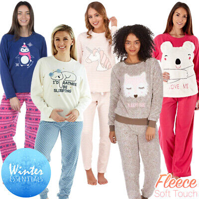 Ladies Pyjamas Set Womens Fleece Pyjamas Ladies Lounge Pyjamas Night Wear Sets • 19.95£