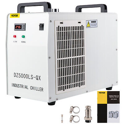 £316.65 • Buy CW-5000 Industrial Water Chiller For 80W/100W CO2 Glass Laser Tube Cooling 220V
