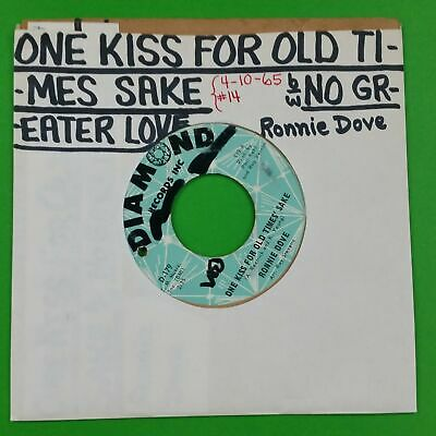 RONNIE DOVE One Kiss For Old Times B/w No Greater Love D179 7  45rpm Vinyl VG+ • 3.63£
