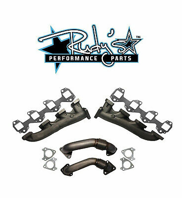 $499.95 • Buy Rudy's High Flow Exhaust Manifold & Up Pipe Set For 01-04 Chevy/GMC 6.6L Duramax