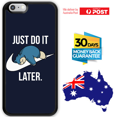 AU12.95 • Buy IPhone 8 7 6 6s SE Plus Rubber Case Snorlax Just Do It Later For Girls Apple