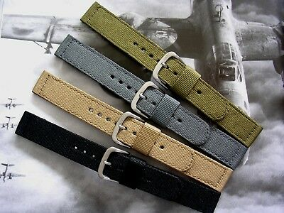 $14.45 • Buy NATO ® 2pc WWII Ballistic Nylon Military Watch Band Combat Strap IW SUISSE USA