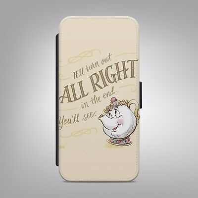 AU16.29 • Buy Beauty And The Beast Disney Mrs Potts FLIP PHONE CASE COVER Fits IPhone Samsung