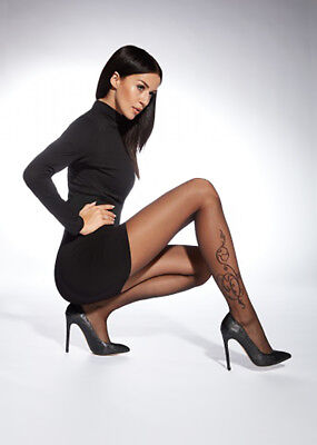 £4.89 • Buy Sexy Patterned Tights By Adrian  Arlette - Floral Tattoo Pattern