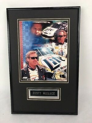 $14.99 • Buy Rusty Wallace Picture Miller Lite #2 Photo File Black Unisex Adult Rare