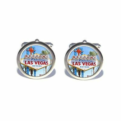 Stag Do Wedding USA America Las Vegas Sign Cufflinks • 13.99£