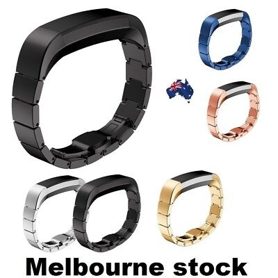 AU16.78 • Buy Stainless Steel Watch Band Luxe Accessory Metal Strap For Fitbit Alta HR Tracker