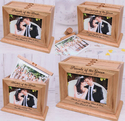 PERSONALISED Wooden PHOTO Album Unusual Gift Ideas For WEDDING Party Parents  • 27.79£