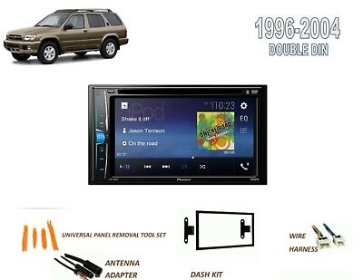 fits 1996-2004 nissan pathfinder, se car stereo kit, dvd touchscreen  bluetooth •