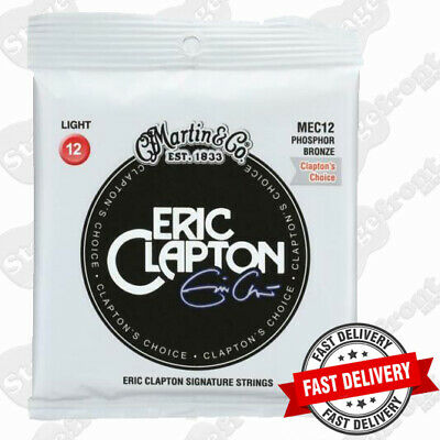 AU14.90 • Buy Martin Mec12 Eric Clapton Phosphor Bronze Light Acoustic Guitar Strings **new**