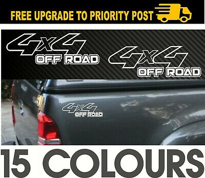 AU12.90 • Buy 4x4 4wd Off Road DECALS Pair Accessories Stickers Suit NISSAN TOYOTA MITSUBISHI