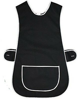Top Quality Ladies Home / Work Tabard (Tabbard) Apron With  Pocket, BLACK • 6.49£