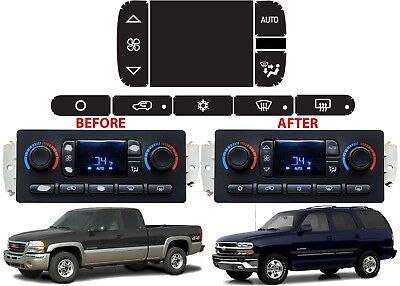 $14.99 • Buy Replacement Climate Control Panel Button Stickers For 2002-2006 GM Trucks New
