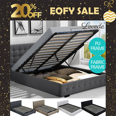 AU329.99 • Buy Levede Bed Frame Base With Storage Gas Lift Single Double Queen King Wooden Base