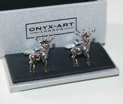 Cufflinks - STAG Deer Standing Design * New * Gift Boxed • 16.75£