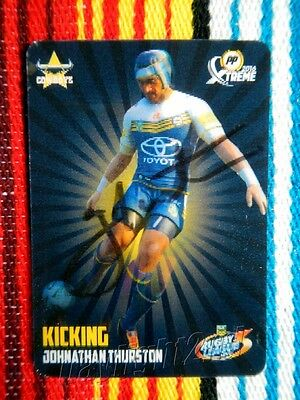 AU39.99 • Buy ✺Signed✺ 2016 NORTH QUEENSLAND COWBOYS NRL Card JOHNATHAN THURSTON Power Play 3D