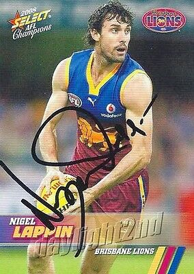 AU9.99 • Buy ✺Signed✺ 2008 BRISBANE LIONS AFL Card NIGEL LAPPIN