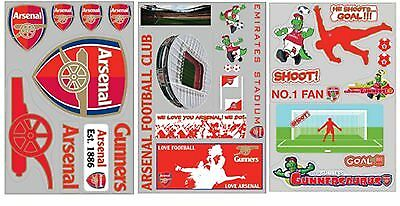 £3.95 • Buy Official Arsenal FC Football Self-Adhesive Wall Stickers Art Borders Removable