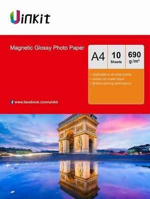 £9.99 • Buy Magnetic Photo Paper A4 High Glossy Fridge Paper 650Gsm Thick Paper 10 Sheets