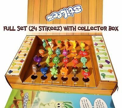 Lidl Stikeez Fruit & Vegetables 2017, Full Set, Collector Box Or 24 Stickers • 1.95£