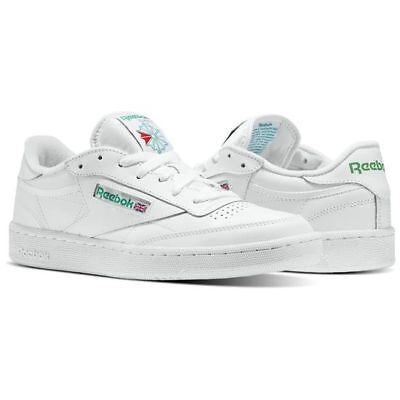 AU60.95 • Buy Reebok Club C 85 AR0456 White/Green Leather Casual  Men Shoes Fast Shipping