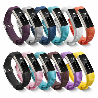 AU3.86 • Buy Silicone Replacement Wristband Metal Buckle Watch Band Strap For Fitbit Alta HR