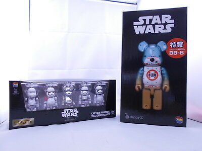 $299 • Buy Lot 2 Medicom Be@rbrick Star Wars BB-8 400% Stormtrooper 5pcs 100% Bearbrick