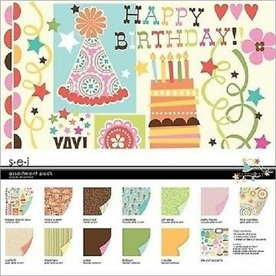 $26.79 • Buy S.e.i HAPPY DAY Assortment Collection Paper Pack 12 X 12  CLEARANCE PRICE