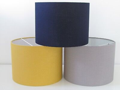 £19.45 • Buy Classic 100% Linen Textured Drum Lampshade Ceiling Light Shade Choice Of Colours
