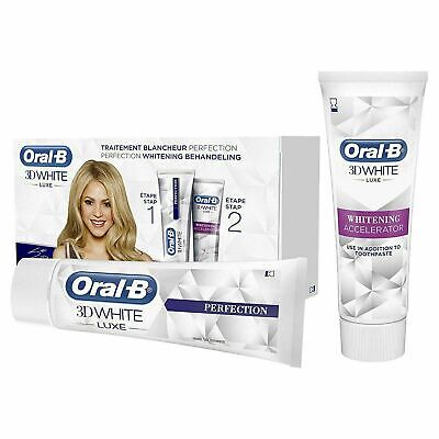 View Details Oral-B 3D White Luxe Perfection Teeth Whitening Treatment Toothpaste Bundle Gift • 7.92£