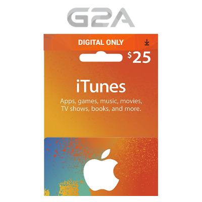 AU42.99 • Buy ITunes Gift Card $25 USD Key - 25 Dollar US Apple Store Code Digital Download
