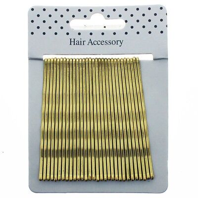 £1.89 • Buy Hair Kirby Clips Bobby Pins Blonde  Wavy Grips Salon Styling Metal Clamps