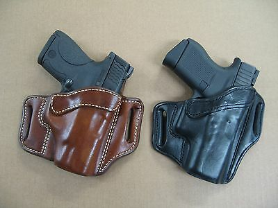$49.95 • Buy Azula Leather OWB 2 Slot Pancake Belt Holster CCW For..Choose Gun & Color - C