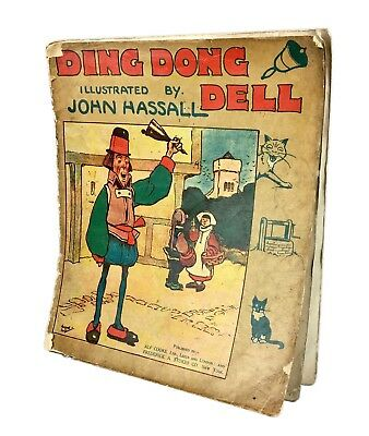 JOHN HASSALL ILLUSTRATED -DING DONG DELL- ANTIQUE ALF COOKE Ltd CHILDREN'S BOOK • 20£