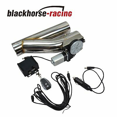 2.5  Electric Exhaust Downpipe Cutout E-Cut Out Valve CONTROLLER REMOTE KIT NEW • 53.99$