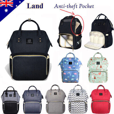 AU38.95 • Buy GENUINE LAND Large Multifunctional Baby Diaper Nappy Backpack Mummy Changing Bag