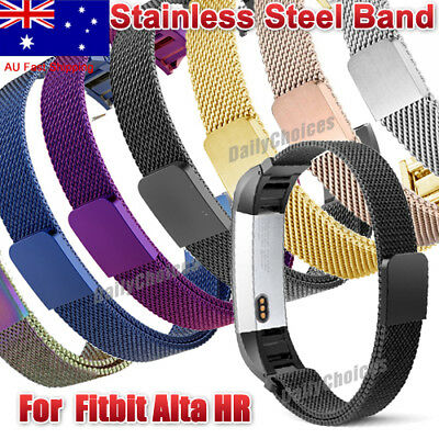 AU10.49 • Buy Stainless Steel Replacement Magnetic Spare Band Strap For Fitbit Alta / Alta HR