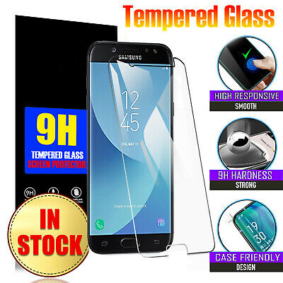 AU4.39 • Buy 2x For Samsung Galaxy J2 Pro J8 A8 2018 J3 J5 J7 Tempered Glass Screen Protector