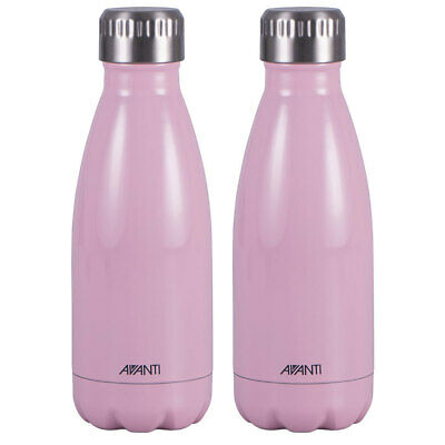 AU25 • Buy 2PK Avanti 350ml Water Vacuum Thermo Bottle/Stainless Steel/Cold/Hot/Drink Pink