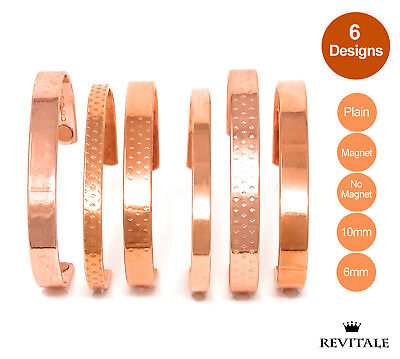 Copper Magnetic Bracelet - Arthritis Therapy Healing Relief Bangle - Men Ladies • 4.49£