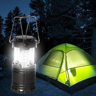 30 LED Portable Camping Torch Battery Operated Lantern Night Light Tent Lamp New • 6.99£