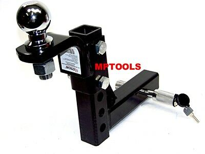 $48.99 • Buy 10  Drop Hitch Mount 2  Receiver Adjustable  With 2  Hitch Ball And Pin Lock