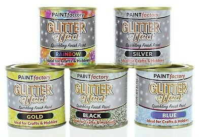 Glitter Effect Sparkling Finish Craft/Hobby Paint 125ml In 5 Different Colours • 3.99£