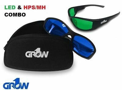 Grow1 Gruve LED & HPS Combo Grow Room Glasses + FREE Carrying Case • 26.12£
